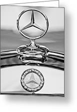 Mercedes Benz Hood Ornament 2 Greeting Card by Jill Reger