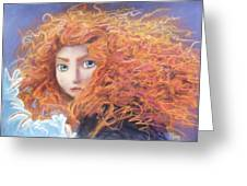 Merida From Pixar's Brave Greeting Card by Andrew Fling
