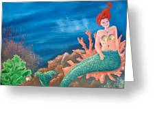 Mermaid Greeting Card by Holly Whiting