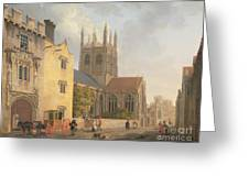 Merton College - Oxford Greeting Card by Michael Rooker
