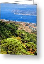 Messina Strait - Italy Greeting Card by Silvia Ganora