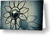 Metal Flower Greeting Card by Dave Bowman