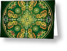Metamorphosis Mandala Greeting Card by Cristina McAllister