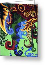 Metaphysical Fauna Greeting Card by Genevieve Esson