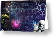 Metaphysical Gravity Greeting Card by Kenneth Armand Johnson
