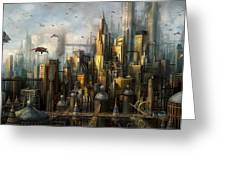 Metropolis Greeting Card by Philip Straub