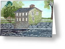 Meyers Mill Greeting Card by Peggy Holcroft