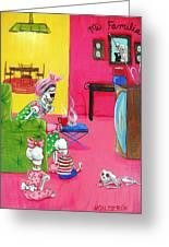 Mi Familia Greeting Card by Heather Calderon