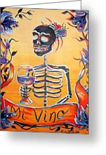 Mi Vino Greeting Card by Heather Calderon