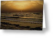 Miami Sunrise Greeting Card by Gary Dean Mercer Clark