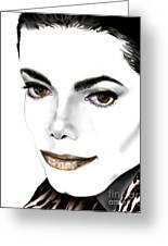 Michael J Greeting Card by Reggie Duffie