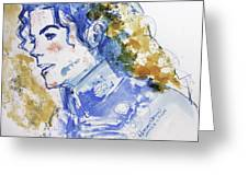 Michael Jackson - Bless You Greeting Card by Hitomi Osanai