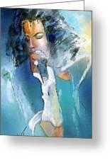 Michael Jackson 04 Greeting Card by Miki De Goodaboom