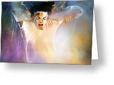 Michael Jackson 09 Greeting Card by Miki De Goodaboom