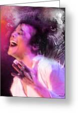 Michael Jackson 11 Greeting Card by Miki De Goodaboom