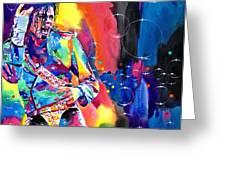 Michael Jackson Flash Greeting Card by David Lloyd Glover