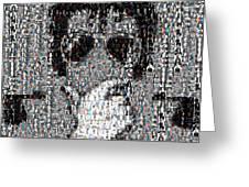 Michael Jackson Glove Montage Greeting Card by Paul Van Scott