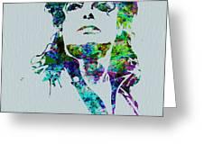 Michael Jackson Greeting Card by Naxart Studio