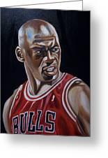 Michael Jordan Greeting Card by Mikayla Ziegler