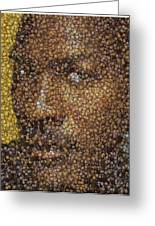 Michael Jordan Money Mosaic Greeting Card by Paul Van Scott