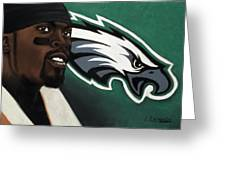 Michael Vick Greeting Card by L Cooper