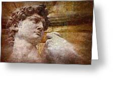 Michelangelo's David Greeting Card by Jen White