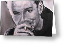 Mickey Rourke Greeting Card by Eric Dee