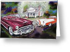Mid Century Classics Greeting Card by Mike Hill