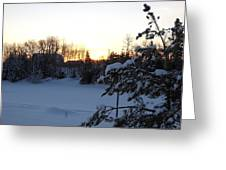 Mid January Winter Sunrise Greeting Card by Kent Lorentzen