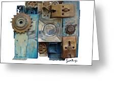 Midnight Mechanism Greeting Card by Scott Rolfe