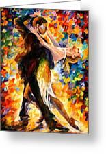 Midnight Tango Greeting Card by Leonid Afremov