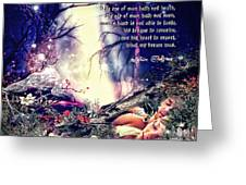 Midsummer Night Dream Greeting Card by Mo T
