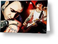 Mike Ness 'nuff Said Greeting Card by Al  Molina