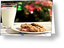 Milk and cookies for Santa Greeting Card by Elena Elisseeva