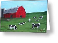 Milking Time Dairy Greeting Card by Kerri Ertman