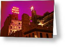 Mill City At Night Greeting Card by Heidi Hermes