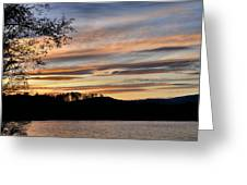 Mill Creek Lake Sun Set Greeting Card by Todd Hostetter