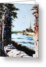 Mill Race Look-out Greeting Card by Hanne Lore Koehler