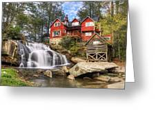 Mill Shoals Falls - Wnc Blue Ridge Waterfalls Greeting Card by Dave Allen