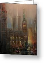 Milwaukee Rain Greeting Card by Tom Shropshire