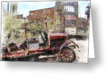 Miners Truck Greeting Card by Dale Stillman