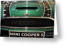 Mini Cooper . 7d9527 Greeting Card by Wingsdomain Art and Photography