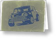 Mini Cooper Greeting Card by Naxart Studio