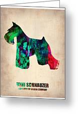 Miniature Schnauzer Poster 2 Greeting Card by Naxart Studio