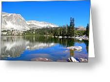 Mirror Lake Wyoming Greeting Card by Kristina Chapman