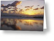 Mirrored Mexico Sunset Greeting Card by Bill Schildge - Printscapes