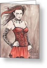 Mis Gothika Greeting Card by Morgan Fitzsimons