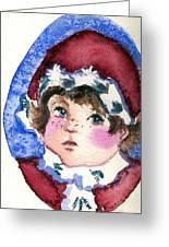 Miss Sugar Plum Greeting Card by Mindy Newman