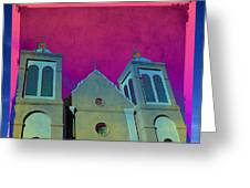 Mission New Mexico Var.2 Greeting Card by Susanne Van Hulst