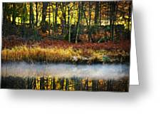 Mist On The Water Greeting Card by Meirion Matthias